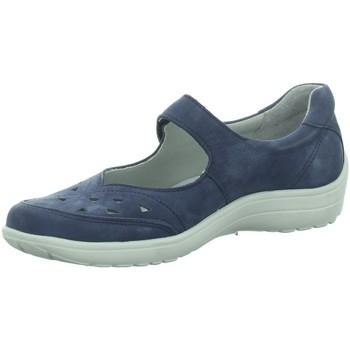 Schuhe Damen Ballerinas Longo Slipper blau