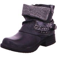 Schuhe Damen Boots Laufsteg München Stiefeletten HW180302 schwarz