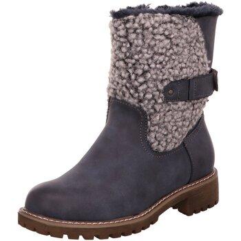 Schuhe Damen Stiefel Laufsteg München Stiefeletten HW180504 bl blau