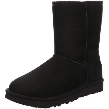 Schuhe Damen Schneestiefel UGG Stiefeletten Classic Short II 1016223 BLK schwarz