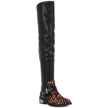 Schuhe Damen Kniestiefel Elvio Zanon PONY NAPPA Nero