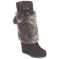 Schuhe Damen Klassische Stiefel Sebastian NIGOK Schwarz