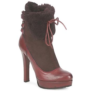 Schuhe Damen Low Boots Sebastian ELIATY Bordeaux