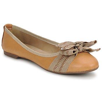 Schuhe Damen Ballerinas StylistClick LUNA Braun