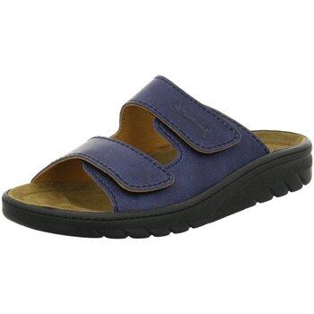 Schuhe Herren Pantoffel Algemare Offene 7261-8788 blau