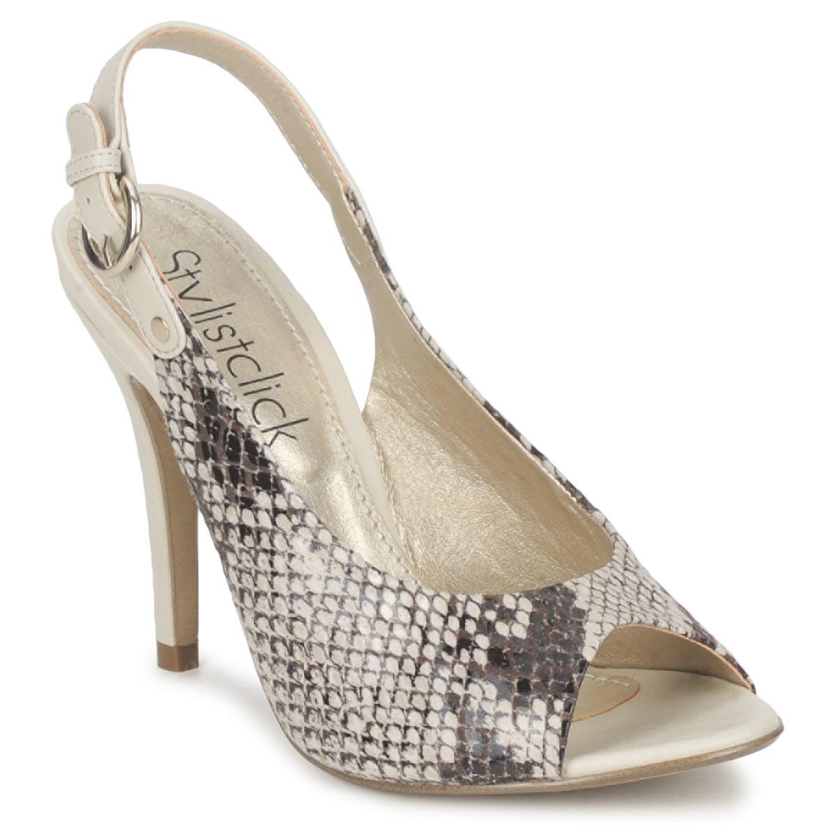 StylistClick RUTH Beige / Celadon - Kostenloser Versand bei Spartoode ! - Schuhe Sandalen / Sandaletten Damen 24,00 €