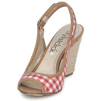 StylistClick INES Judi / Rot - Kostenloser Versand    - Schuhe Sandalen / Sandaletten Damen 2449