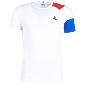 Kleidung Herren T-Shirts Le Coq Sportif ESS Tee SS N°10 M Weiss / Rot / Blau