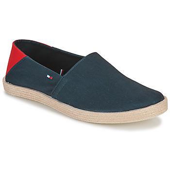 Schuhe Herren Leinen-Pantoletten mit gefloch Tommy Hilfiger GRANADA 2D Marine