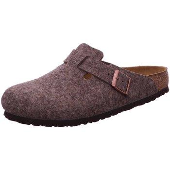 Schuhe Herren Pantoletten / Clogs Birkenstock Offene Boston 160581 grau