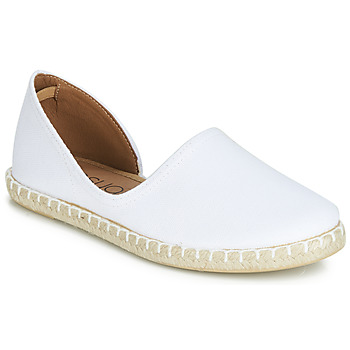Schuhe Damen Leinen-Pantoletten mit gefloch Casual Attitude JALAYIVE Weiss