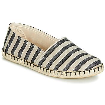 Schuhe Damen Leinen-Pantoletten mit gefloch Casual Attitude JALAYIBE Weiss / Blau