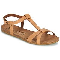 Schuhe Damen Sandalen / Sandaletten Casual Attitude JALIYAXE Camel