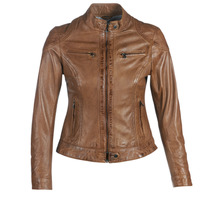Kleidung Damen Lederjacken / Kunstlederjacken Oakwood LINA Cognac
