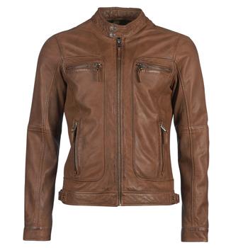Kleidung Damen Lederjacken / Kunstlederjacken Oakwood CASEY Cognac