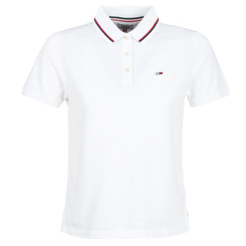 Kleidung Damen Polohemden Tommy Jeans TJW TOMMY CLASSICS POLO Weiss