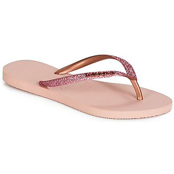 Schuhe Damen Zehensandalen Havaianas SLIM GLITTER Rose