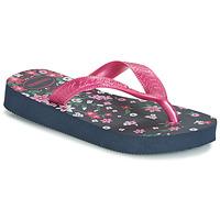 Schuhe Mädchen Zehensandalen Havaianas KIDS FLORES Marine / Rose