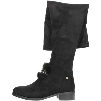 Schuhe Damen Kniestiefel Braccialini TA107 Schwarz