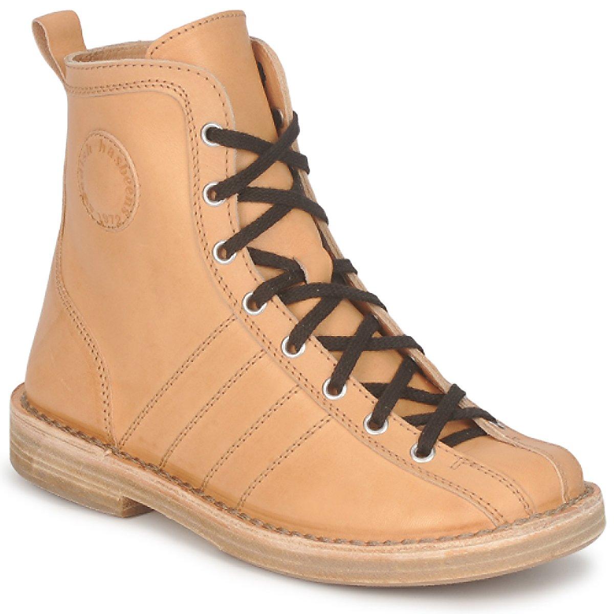 Swedish hasbeens VINTAGE BOWLING BOOT Beige - Kostenloser Versand bei Spartoode ! - Schuhe Boots Damen 194,50 €