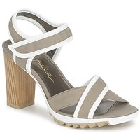 Schuhe Damen Sandalen / Sandaletten Espace GENIEVRE Grau / Weiss