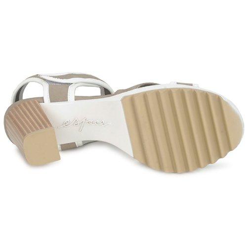 Espace GENIEVRE Grau     Weiss  Schuhe Sandalen   Sandaletten Damen 3f1088