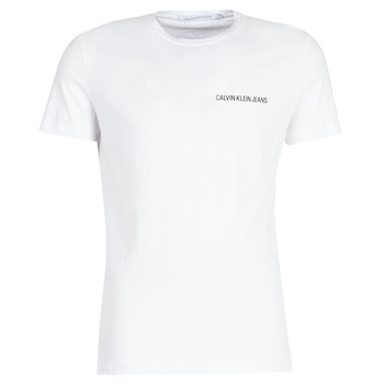 Kleidung Herren T-Shirts Calvin Klein Jeans CHEST INSTITUTIONAL SLIM SS TEE Weiss