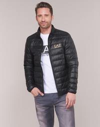 Kleidung Herren Daunenjacken Emporio Armani EA7 TRAIN CORE ID DOWN LT Schwarz / Gold