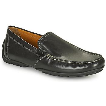 Schuhe Herren Slipper Geox MONET Schwarz