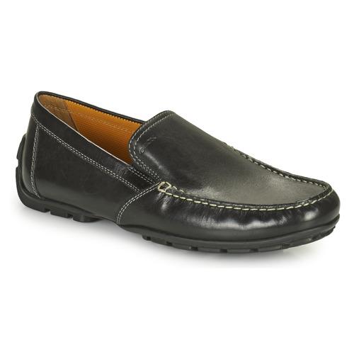 Geox uomo symbol mocassins black homme chaussures| Geox