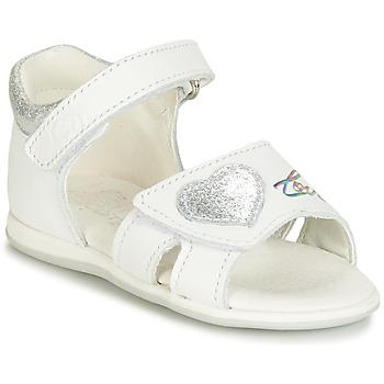 Schuhe Mädchen Sandalen / Sandaletten Citrouille et Compagnie JAFALGA Weiss
