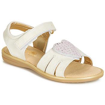 Schuhe Mädchen Sandalen / Sandaletten Citrouille et Compagnie JAFILOUTE Weiss