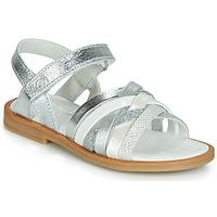 Schuhe Mädchen Sandalen / Sandaletten Citrouille et Compagnie JIRAFOU Silbern