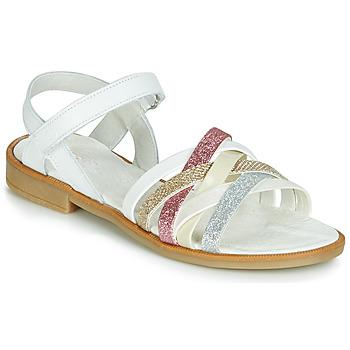 Schuhe Mädchen Sandalen / Sandaletten Citrouille et Compagnie JARILOU Weiss