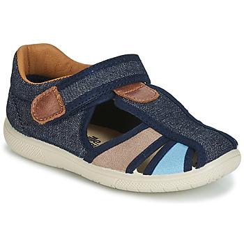 Schuhe Jungen Sandalen / Sandaletten Citrouille et Compagnie JOLIETTE Blau / Beige