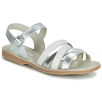 Schuhe Mädchen Sandalen / Sandaletten Citrouille et Compagnie JAGUINOIX Grau / Silbern
