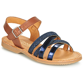 Schuhe Mädchen Sandalen / Sandaletten Citrouille et Compagnie JOLICOTE Marine / Camel
