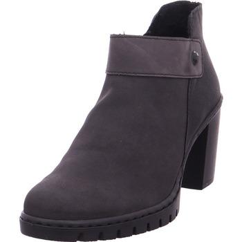 Schuhe Damen Stiefel Stiefelette - Y2582-45 anthrazit/fumo/schwarz 45