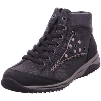 Schuhe Damen Boots Rieker - L5225-01 schwarz/black-silver/blac 01