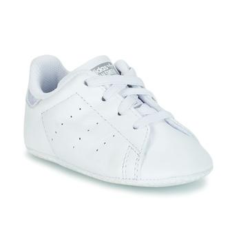 Schuhe Mädchen Sneaker Low adidas Originals STAN SMITH CRIB Weiss