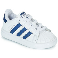 Schuhe Kinder Sneaker Low adidas Originals SUPERSTAR EL Weiss / Blau