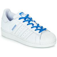 Schuhe Mädchen Sneaker Low adidas Originals SUPERSTAR J Weiss / Blau