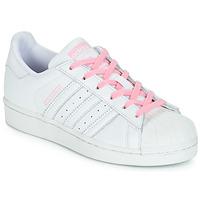 Schuhe Mädchen Sneaker Low adidas Originals SUPERSTAR J Weiss / Rose