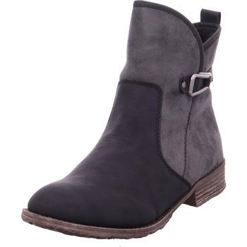Schuhe Damen Stiefel Stiefelette - 74793-01 schwarz/blei 01