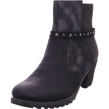 Schuhe Damen Stiefel Stiefelette - Y8077-01 schwarz/schwarz-silber/bl 01
