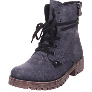 Schuhe Damen Stiefel Stiefelette - 785G9-14 denim/schwarz 14