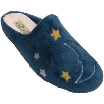 Schuhe Hausschuhe Calzamur Frauenwinterschuh offen hinter zeichnend Blau