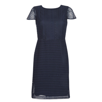 Kleidung Damen Kurze Kleider Lauren Ralph Lauren NAVY SHORT SLEEVE DAY DRESS Marine