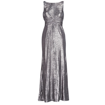 Kleidung Damen Maxikleider Lauren Ralph Lauren SLEEVELESS EVENING DRESS GUNMETAL Grau / Silbern