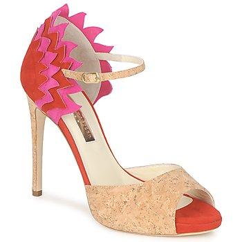 Schuhe Damen Sandalen / Sandaletten Rupert Sanderson FLAMANTE Rot / Schwarz